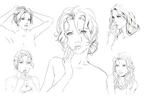 Vector set. Black and white fashion