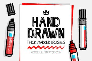 AI handmade thick dry marker brushes