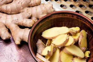 Root of medicinal ginger