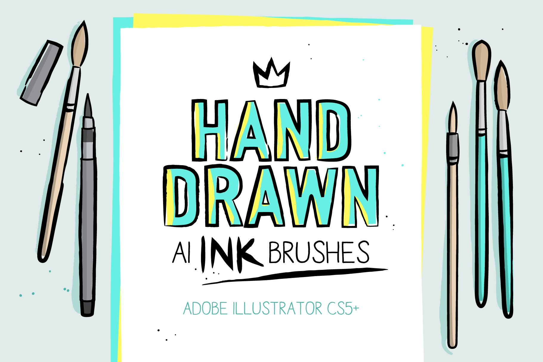 Ai Ink Brushes Creative Market Years Ago How To Edit This Vector Free For Commercial Use With