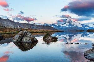 Reflections on lake Stellisee