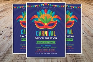 Carnival Day Celebration Flyer