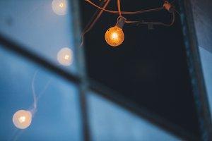 Light Bulb Through A Window
