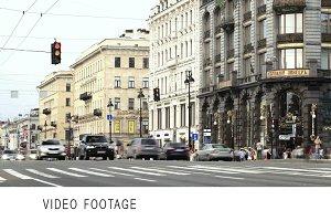 Nevsky Prospect. Pedestrian crossing