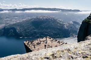 Aerial view of Preikestolen, Norway