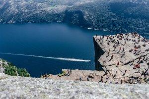 Aerial view of Preikestolen, Norway