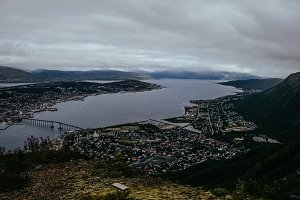 Aerial view of Tromso