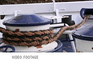 Mooring rope.