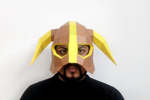DIY Horned Helmet 3D Papercraft