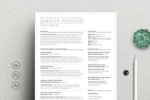 Minimal Word Resume