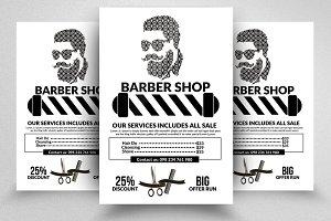 Barber Shop Flyer Templates