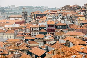 Rooftops of old city of Oporto