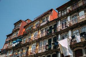 Traditional Porto balconies