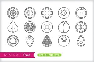 Minimal fruit icons