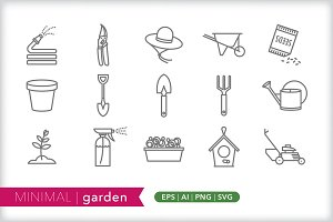 Minimal garden icons