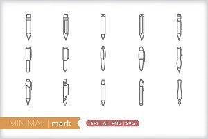 Minimal mark icons
