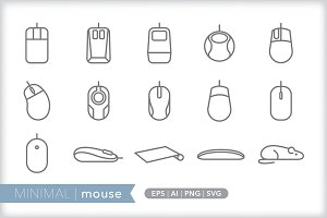 Minimal mouse icons