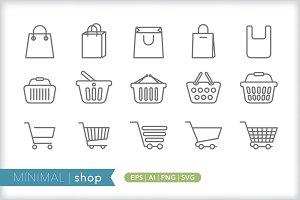Minimal shop icons