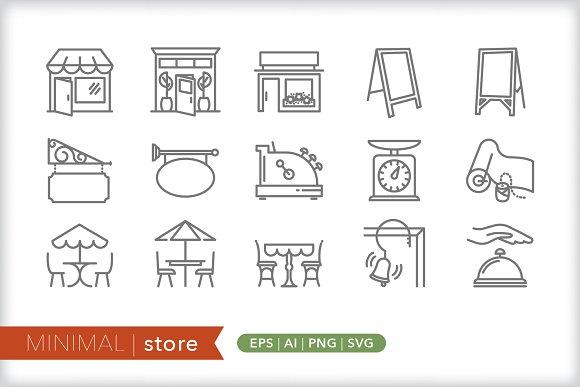 Minimal store icons