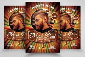 Barber Shop Promotional Flyer Temp