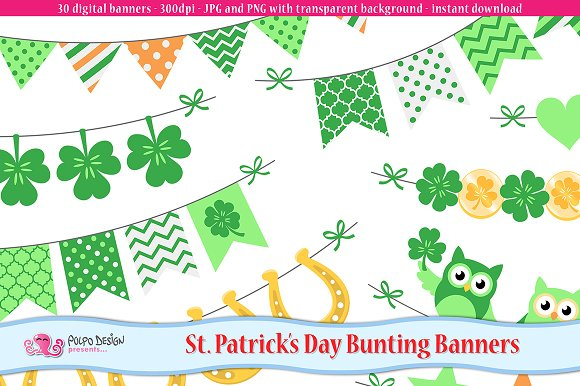St. Patrick's Day bunting banners