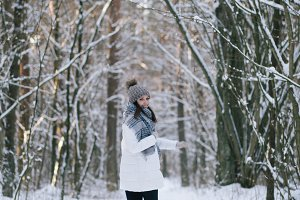 Outdoor winter portrait