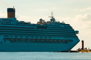 Large royal cruise liner