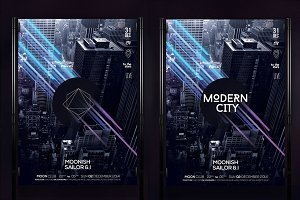 Modern City Poster