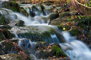 Beautiful cascading waterfall