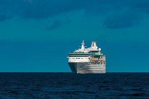 Luxury cruise liner in travel