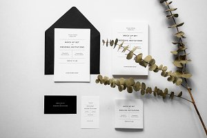 Invitations & Postcard Mockup Set
