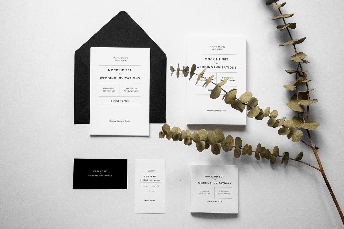 Invitations & Postcard Mockup Set
