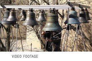 Bellringer rings the bells.