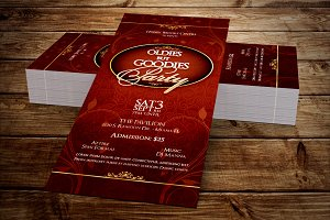 Oldies Goodies Party Ticket Template