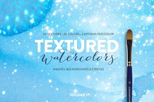 60 Textured Watercolors - Volume 1