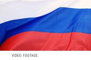 Russian flag waving.
