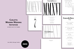 Carlotta Modern Wedding Stationery