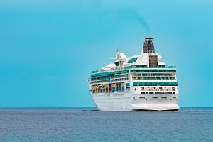 White cruise liner