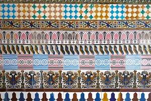 Mosaic pattern at the Cartuja