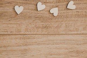 Wooden valentines hearts