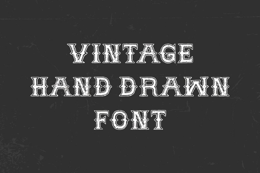 Best Vintage Hand Drawn Font Vector