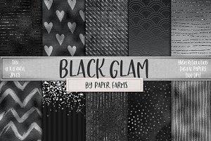 Black glam digital paper