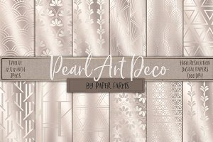 Pearl Art Deco backgrounds