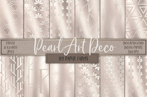 Pearl Art Deco backgrounds in Patterns