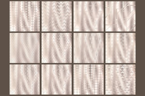 Pearl Art Deco backgrounds in Patterns - product preview 1