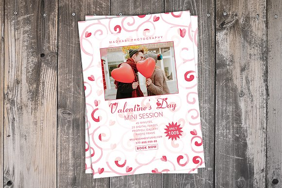 Valentines Day Mini Session Card