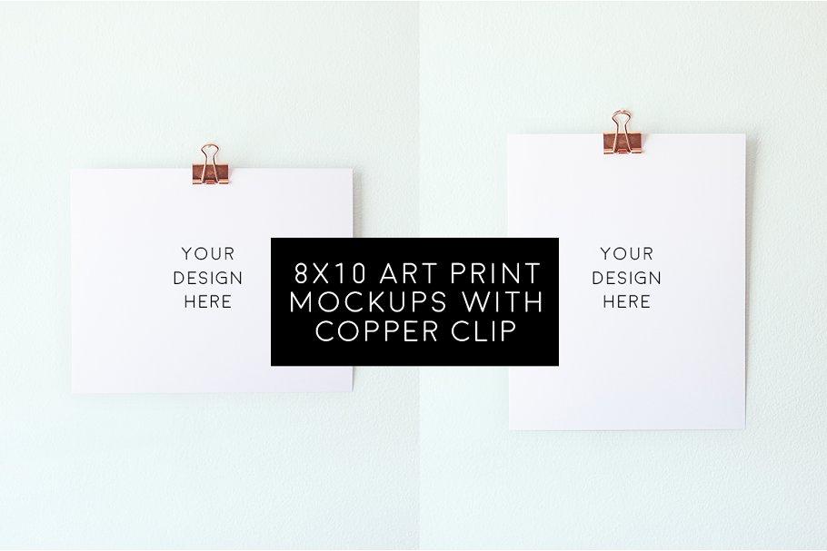 2 Blank 8x10 Art Prints Bundle