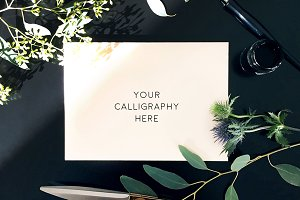 Blank Envelope - Calligraphy Mockup