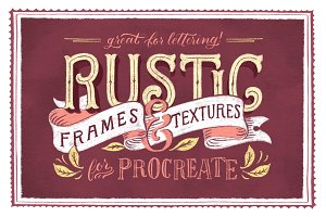 Rustic Frames & Textures - Procreate