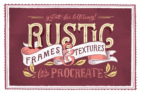 Rustic Frames Textures Procreate